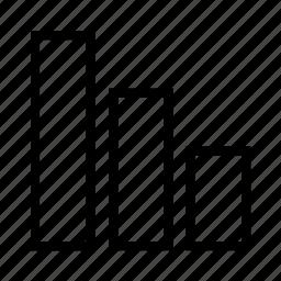 bar, bars, chart, descending icon