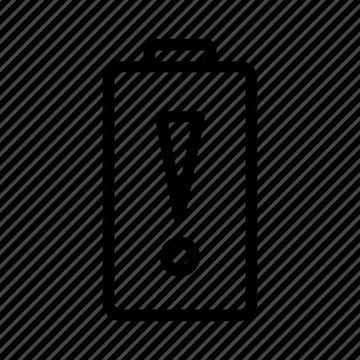 battery, empty icon