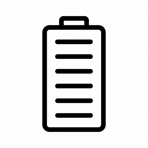 bars, battery, full icon