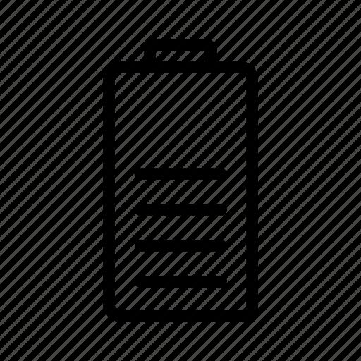 bars, battery, half icon