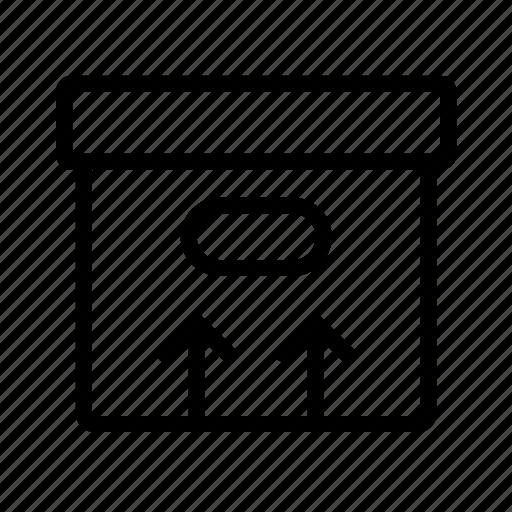 arrows, box icon