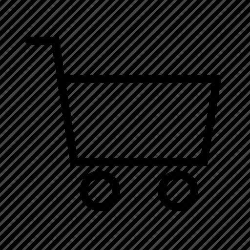 buy, cart, ecommerce, empty, shop, shopping icon