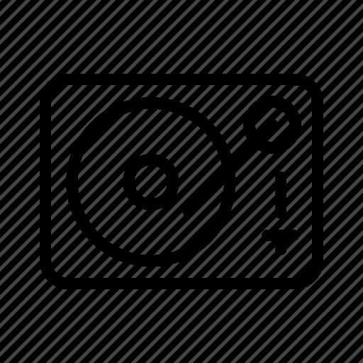 Music, player, sound, turntable, vinyl icon - Download on Iconfinder
