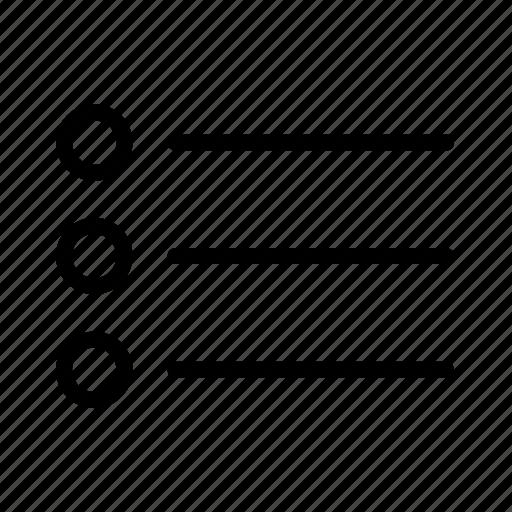 document, list, unorderd icon