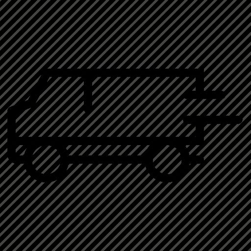 speed, transport, transportation, truck, van icon