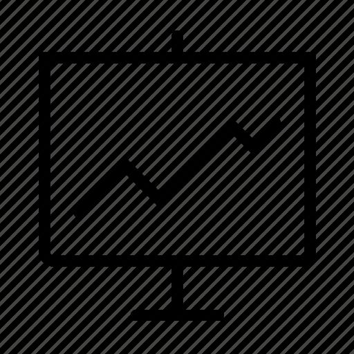 Chart, whiteboard iconWhiteboard Icon