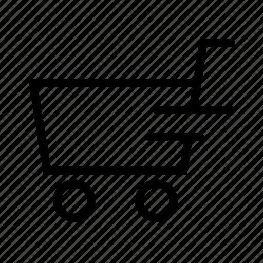 buy, cart, ecommerce, left, shop, shopping, speed icon