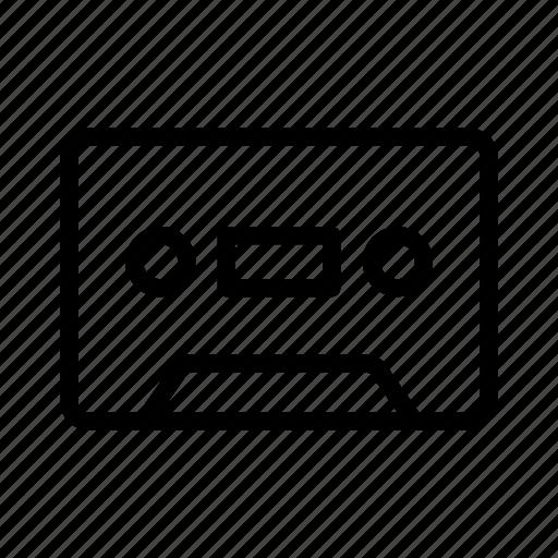 casette, cassette, music, sound, tape icon