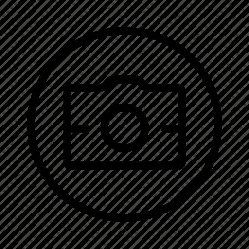 camera, circle, photography icon