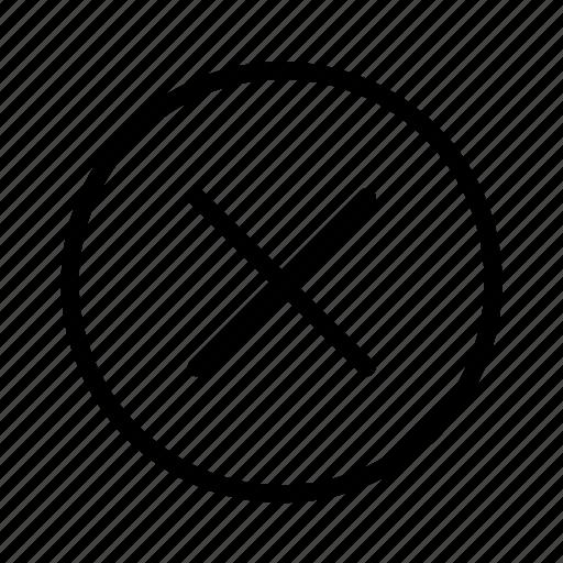 cancel, circle, close, delete, exit, remove icon