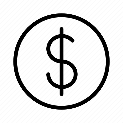 circle, currency, dollar, finance, money icon