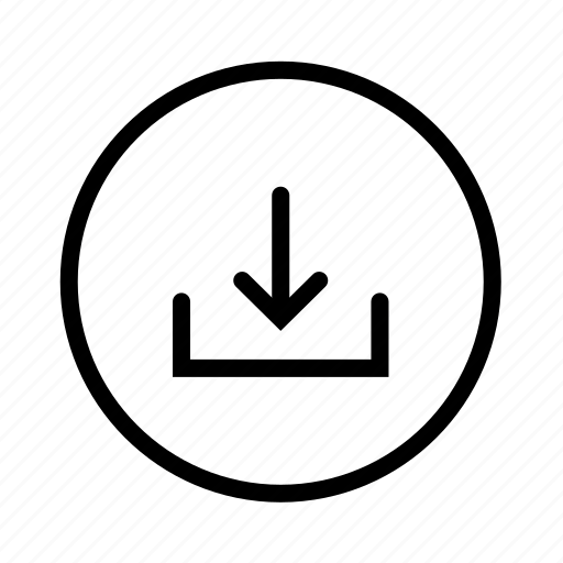 arrow, circle, down, download, downloads icon