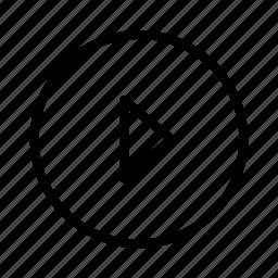 circle, play icon