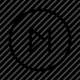 circle, next, player icon