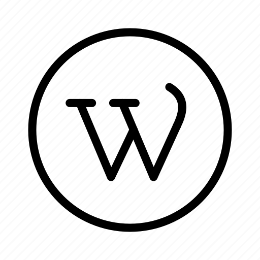 circle, social, wordpress, wp icon