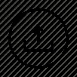 circle, upload icon