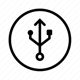 circle, usb icon