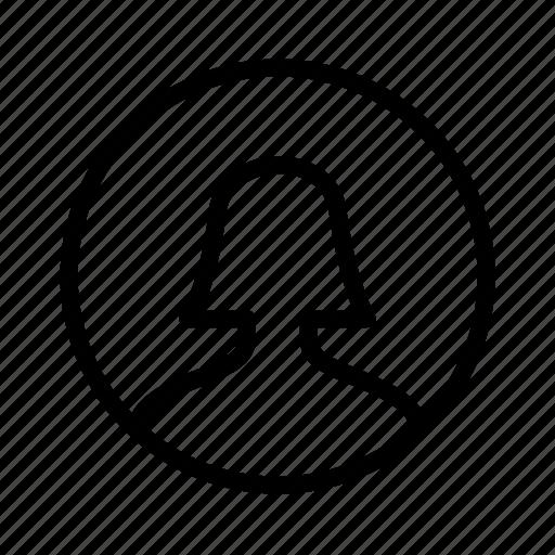 account, circle, female, profile, user, woman icon