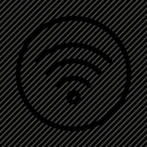 circle, signal, wifi icon