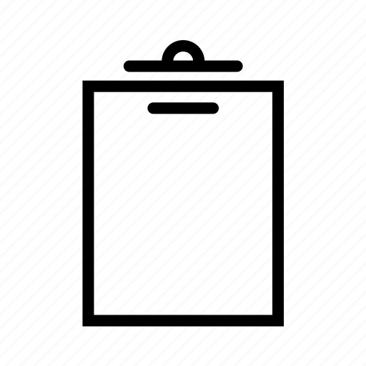 clipboard, document, empty icon