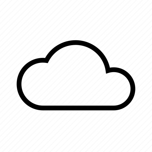 cloud, single, weather icon