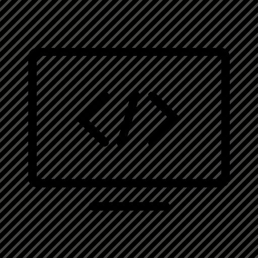 Computer Code Icon Code Computer Desktop