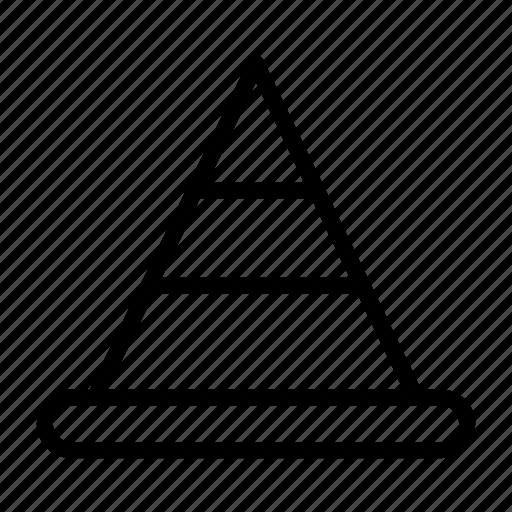 cone, danger, error, problem, warning icon