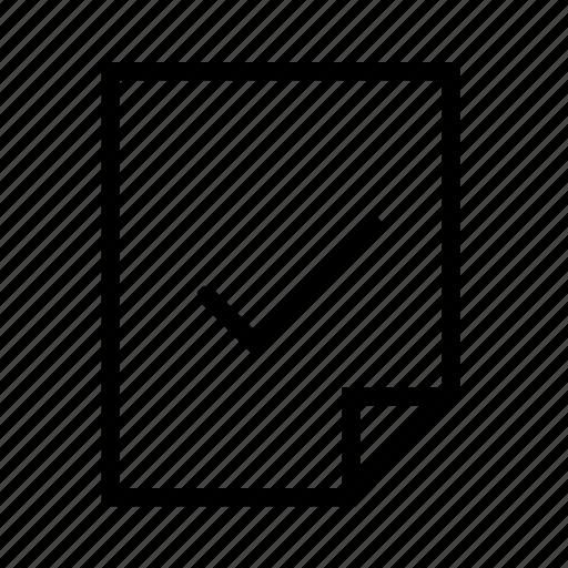 check, document, file icon