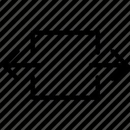 expand, full, horizontal, maximize icon