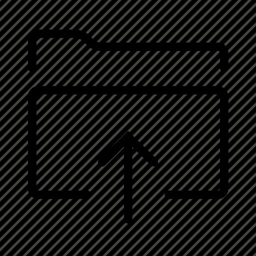 arrow, documents, folder, up, upload icon