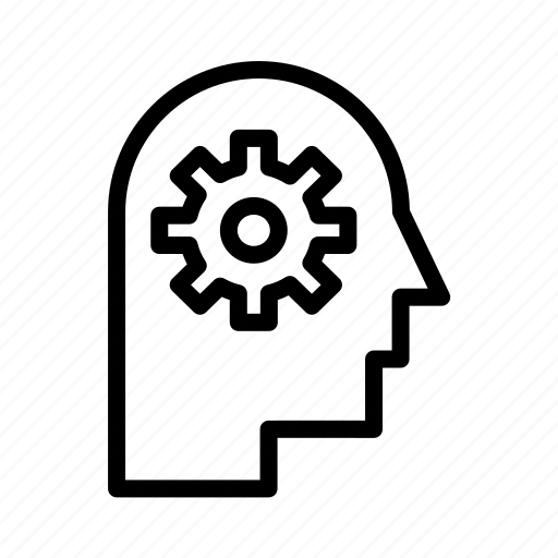 Head, cog icon