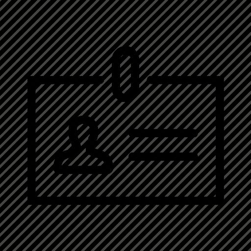 badge, id icon