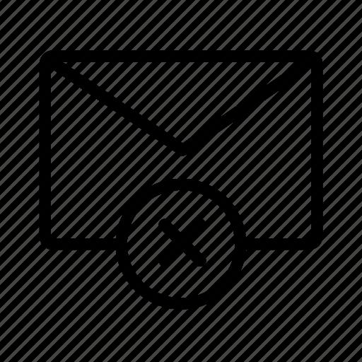 close, delete, email, envelope, mail, message, remove icon