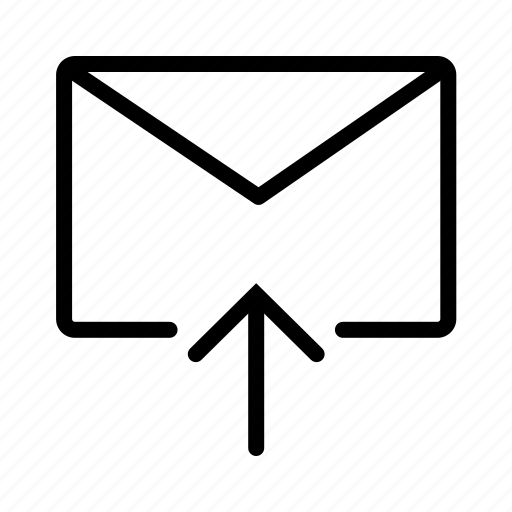 arrow, email, envelope, mail, message, up icon