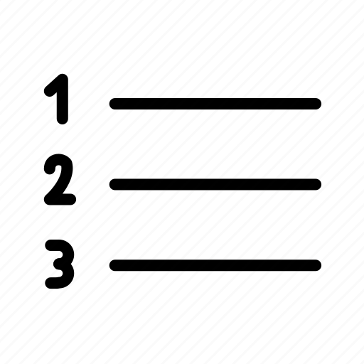 list, orderd icon