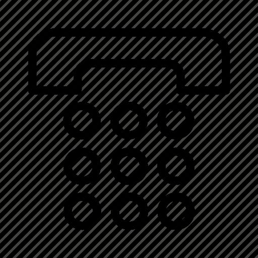 keypad, phone, telephone icon