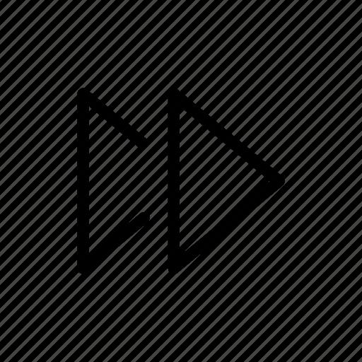 ffwd, forward, player icon