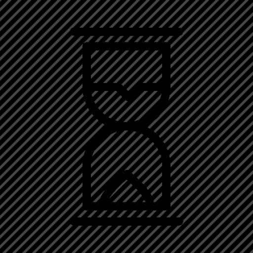 glass, sand icon