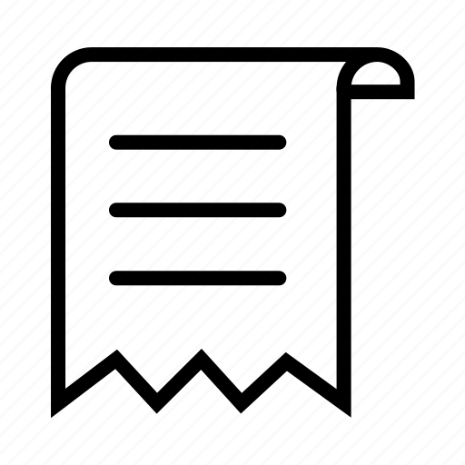 document, ripped, script, scroll, writing icon