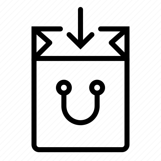 bag, ecommerce, in, open, shop, shopping icon