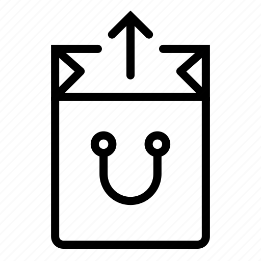 bag, buy, ecommerce, open, out, shop, shopping icon