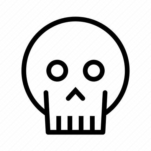 danger, death, horror, skull, warning icon