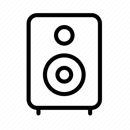 audio, monitor, music, sound, speaker icon