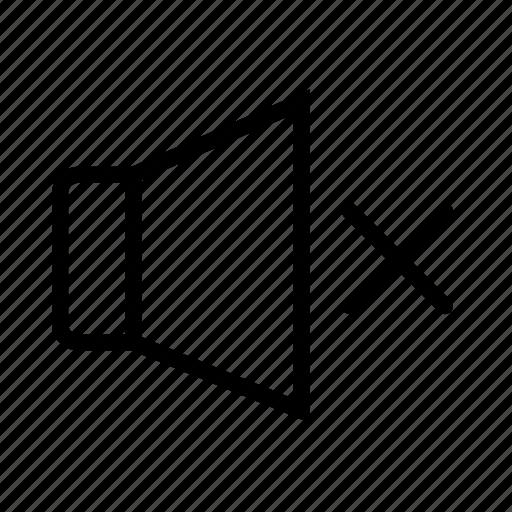 audio, music, off, sound, volume icon