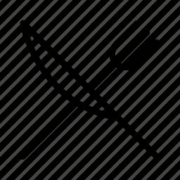 diagonal, fork, knife icon