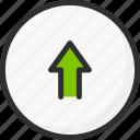 arrow, circle, sync, synchronization, upload