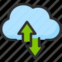 arrow, cloud, service, storage, sync, synchronization icon