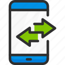 arrow, mobile, phone, smartphone, sync, synchronization icon