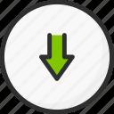 arrow, circle, download, sync, synchronization