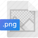 extension, file, format, png file, system file icon